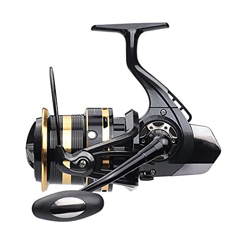 LIMESI Tiro Largo Carrete de Pesca Spinning 12+1 BB Mango Intercambiable Izquierdo/Derecho EA10000-12000 Carrete de Agua Salada Pesca Potencia Máximo 10 kg-EA11000