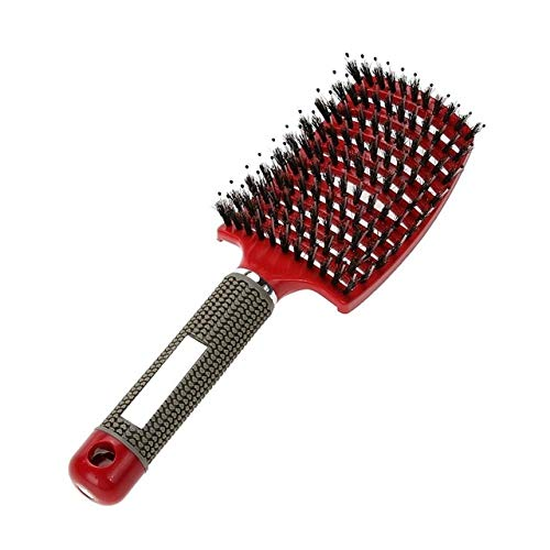 Peine de Masaje para el Cuero cabelludo, Cepillo para el Cabello, cerdas de Nailon para Mujeres, Cepillo de Pelo para desenredar y Rizado húmedo para salón, Herramientas de peluquería, 14