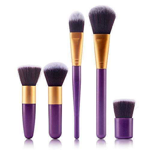 Beauty-Tools,Momoxi 5Pcs Makeup Brushes Powder Foundation Eyeshadow Eyeliner Lip Cosmetic Brush Holzgriff, farbiges Faserhaar, Mascara, Augenbrauenstift, Eyeliner, Valentinstag, Freundin