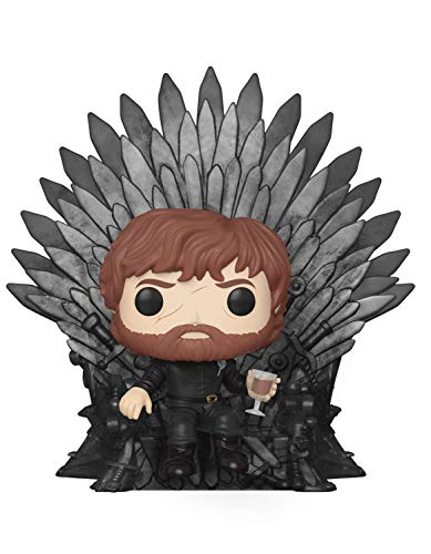 Funko- Pop Deluxe: Game of Thrones S10: Tyrion Sitting on Iron Throne Figura da Collezione, Multicolore, 37404