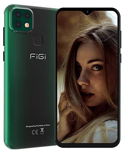 FiGi Note 1 Pro Smartphone ohne Vertrag 4G Handy - 6,6 Zoll HD+ Display 4000mAh Akku, 16MP+8MP+2MP Kamera, 4GB RAM/128GB ROM, Dual SIM Android 9 Handy - GPS/Face ID/Fingerabdruck – Grün