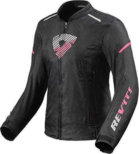 Revit Sprint H20 - Chaqueta de motorista para mujer, color negro y rosa, talla 40
