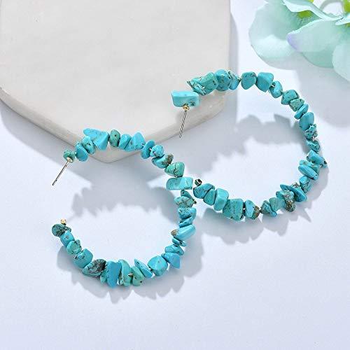 Oorbellen Boheemse vrouwen Simple Mode Steen - Zoals geometrische ring blauw Lange persoonlijkheid overdreven creatieve geschenken Trend Catwalk Party Fotografie