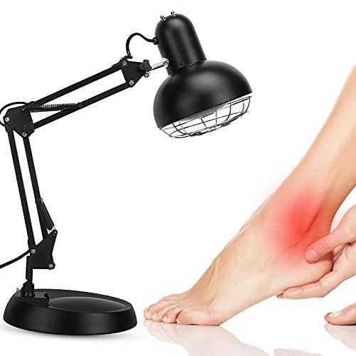 Lámpara de calor infrarroja Luz infrarroja Terapia infrarroja, Difusor de calor infrarrojo Beneficioso para resfriados y tensiones musculares Portátil(EU)
