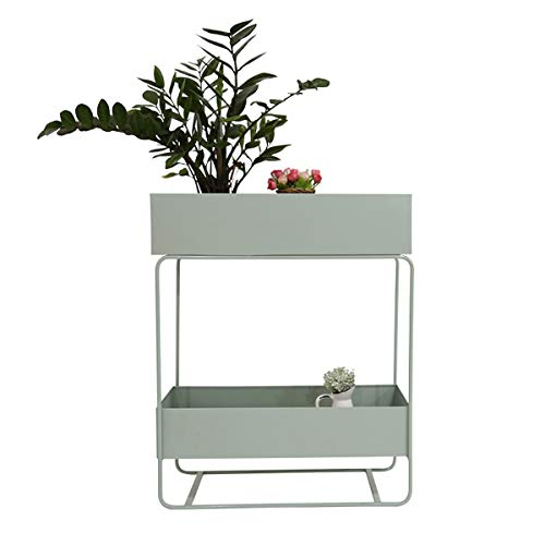 Planter Box Flower Stand, Two Tiers Can Be Placed Raised Planter Box Standing Rack, Outdoor Elevated Garden Flower Bed Pots, For Vegetables Flower HerbPatio Or Indoor Storage Shelf Bookshelf, Size: 74