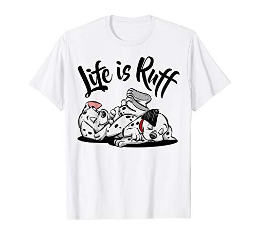 Disney 101 Dalmatians Sleeping Puppies Life Is Ruff T-Shirt