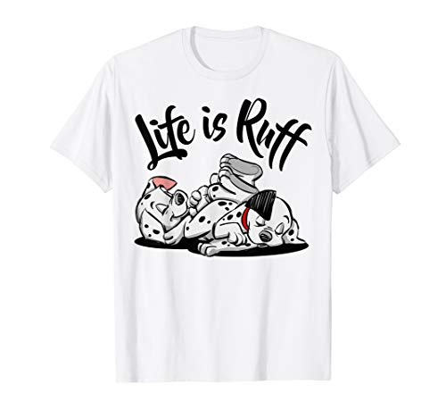 Disney 101 Dalmatians Sleeping Puppies Life Is Ruff T-Shirt