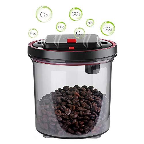 EASEHOLD Vorratsdose Kaffeedose aromadichter Aufbewahrungsboxen automatisch Vakuumdose - BPA-freie Frischhaltedosen - Kunststoffbehälter spülmaschinentauglich