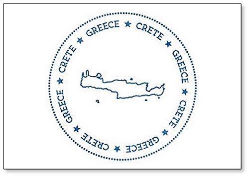 Kreta Kaart Illustratie Koelkast Magneet