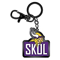 Pro Specialties Group Minnesota Vikings Skol Tagline Zamac Metal Keychain, Purple, One Size