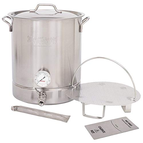 Bayou Classic 800-410, 10-gal Stainless Steel 6 pc. Brew Kettle