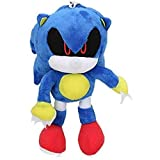 Uvvifk Juguete de Peluche Blue Sonic The Hedgehog 17cm Sonic Llavero de Felpa Juguete de Metal Muñec...