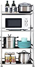 Home Living Museum/Kitchen Rack Floor Multi Layer Storage Rack Stainless Steel Microwave Oven Shelf Household Kitchen Spac...