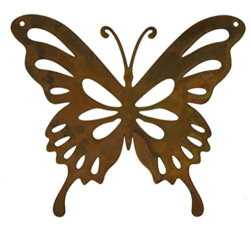 Rostikal | Deko Schmetterling Paula | Dekoration aus Rost Metall zum hängen | 14 x 12 cm