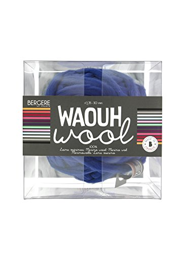 Bergère de France Waouh Wool 500 g, Wolle, Marine, 23 x 23 x 23 cm