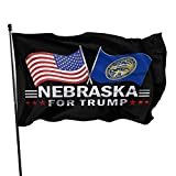 American Flags Nebraska for Trump Flag 3 X 5 Ft,Family Party Flags in Indoor Banner Breeze Flag Outdoor Flags Home Flag Garden Flags