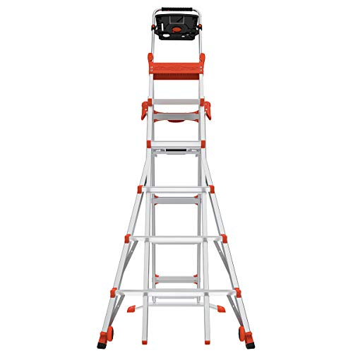 Little Giant Ladders, Select Step, 6-10 Foot, Stepladder, Aluminum, Type 1A, 300 lbs Weight Rating (15109-001)