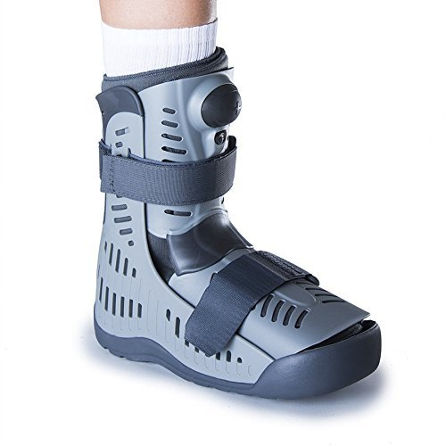 Ossur Rebound Air Walker Boot High Top (Medium) with Compression Adjustable Comfortable Straps and Air Pump Rocker Bottom Ventilated Panels for Ankle Sprains Fractures Tendon Ligament Post-Op Rehab