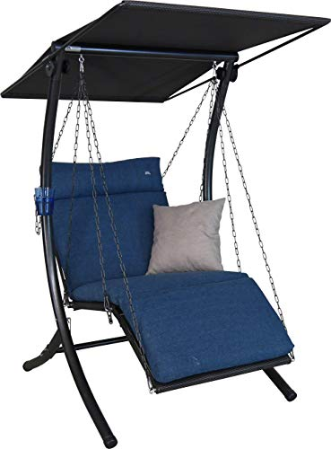 Angerer Swing Smart Hollywoodschaukel, blau, 1-Sitzer