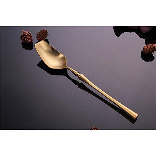 ALANG Edelstahl Besteck Set Gold Geschirr Set Western Food Besteck Geschirr Geschirr Gabeln Messer Löffel, Löffel, Russische Föderation