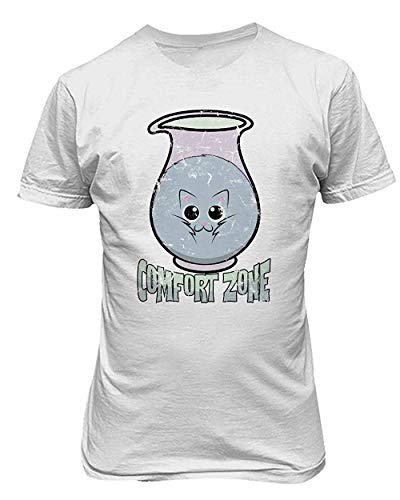Allforenjoy Camiseta gráfica Cat in The Comfort Bottle Pet Meow Cute Funny Print