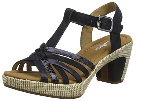 Gabor Shoes Damen Comfort Sport Riemchensandalen, Blau (Pazifik (Ba.St) 46), 40 EU