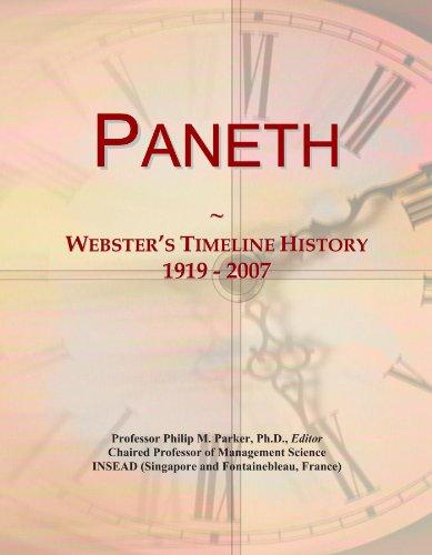 Paneth: Webster's Timeline History, 1919 - 2007