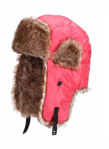 StyleKiste StyleKiste Schicke Fliegermütze in pink mit Fell und Kinnriemen zum verschließen
