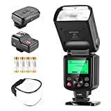 Neewer NW670 E-TTL Flash Kit Compatible with Canon Rebel T5i T4i T3i T3 T2i T1i XSi XTi, EOS 700D 650D 600D 1100D 550D 500D 450D 400D DSLR Cameras with Color Gel Filters, Flash Trigger