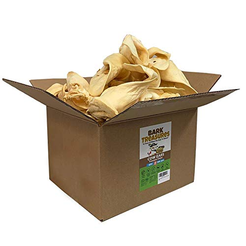 Jumbo Thick Cow Ears Dog Treats (100 Count Box) - Best Cow Ear Dog Chews - Safe Rawhide Alternative - Cow Ears for Dogs