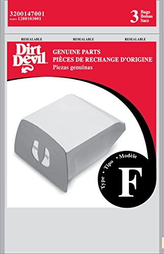 Dirt Devil Genuine Style F Canister Vacuum Bags (3-pack) 3200147001