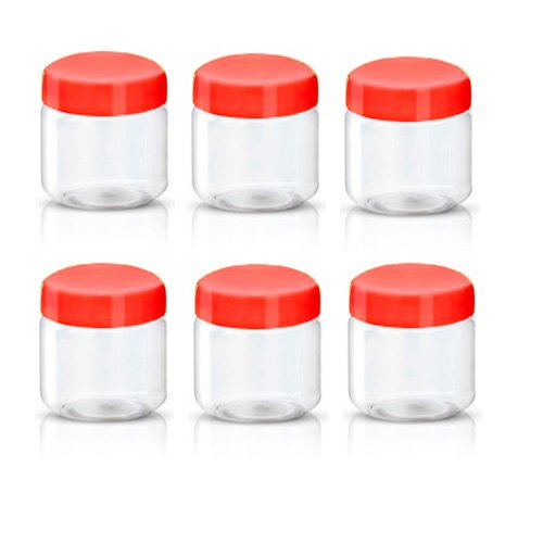 Sunpet Aufbewahrungsbehälter für Lebensmittel, Kunststoff, Rot, 100ml,  Pack von 6