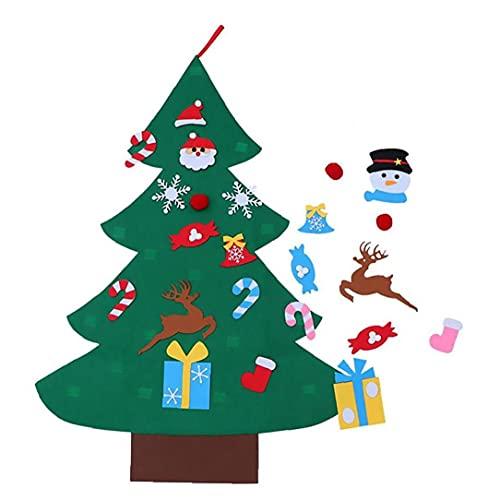 albero di natale per bambini Runfon Tre-Dimensional Feltro Albero di Natale Kit Fai da Te Kit Appeso Ornamento Creativo Feltro Albero di Natale per Bambini Decorazione Artigianale