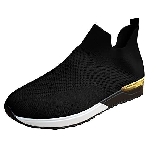 Scarpe Sportive da Donna, Traspiranti e in Rete, per attività all'Aria Aperta, Corsa, Fitness, Traspiranti (A10-Black,38)