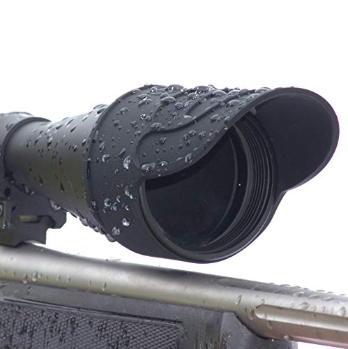 DOWN UNDER OUTDOORS Silicone Rubber Rifle Scope Binocular Cover Sunshade Rain Cap Eye Piece Objective Lens Spotting Optics Tactical Flip Up Protector 40mm 44mm 50mm 56mm Sold Individually (Medium)