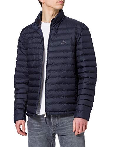 GANT Jacket D1. Chaqueta Light Padded, Azul noche, XXXXXL para Hombre