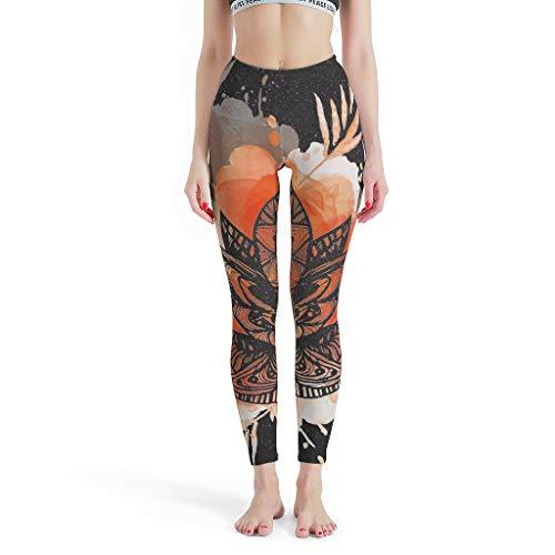 Dofeely dames druk yoga lange broek elastische capri comfort fitness joggingbroek S-XL