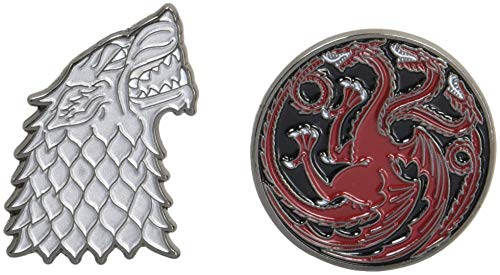 Compare Textbook Prices for Game of Thrones Twin Pins: Stark and Targaryen Sigils: Two Enamel Pins Enamel Pin Sets, Game of Thrones Buttons, Jewelry from Books  ISBN 9781452164281 by Chronicle Books