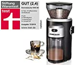 ROMMELSBACHER EKM 300 elektrische Kaffeemühle mit Kegelmahlwerk aus Edelstahl (12 Stufen-Mahlgrad,...