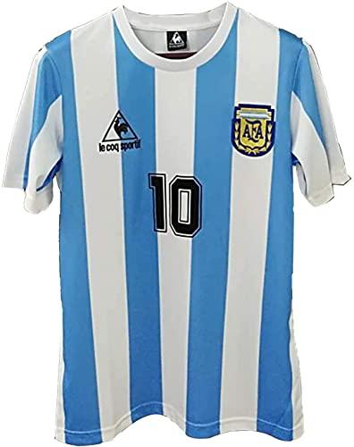 1986 World Cup Argentina Maradona 10 Retro Football Soccer Jersey T-Shirt, God's Left Hand Diego Maradona #10 Jersey Mexico Bye (XXL)