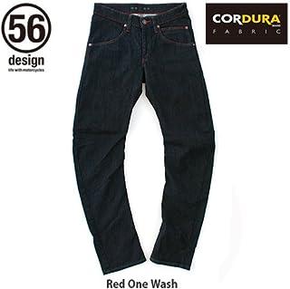 56design(フィフティーシックスデザイン) 56design x EDWIN 056 Rider Jeans CORDURA One Wash レッドステッチ XLサイズ
