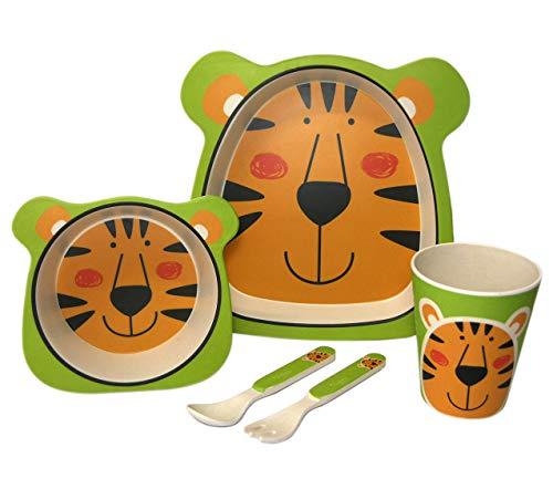 Kinder Geschirr Set aus Bambus 5 teilig...