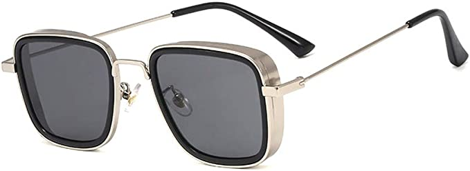 Steampunk Clothing, Fashion, Costumes Kabir Singh Steam punk Square glasses Mens Aviator Sunglasses UV400  AT vintagedancer.com