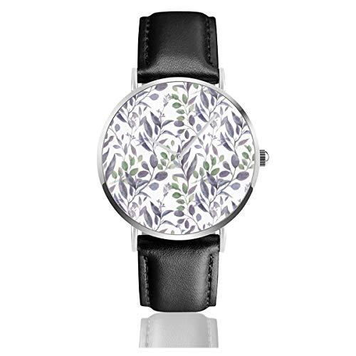 Greenery Armbanduhr, klassisch, Edelstahl, Quarzuhrwerk, Violett/Salbeigrün
