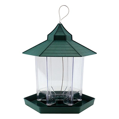 Ogrmar Hanging Gazebo Wild Bird Feeder -Perfect for Garden Decoration and Bird Watching for Bird Lover and Kids (Green)