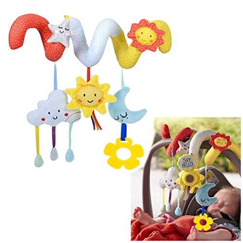 Amiispe Espiral de Actividad para Juguetes para bebés Multicolor, el Juguete para niños pequeños es el Cochecito bebés Juguete Juguetes educativos Peluches Juguete de Cuna Seguro y no tóxico
