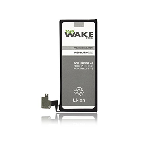 WAKE Battery for iPhone 4S (Compatible for iPhone 4S no 4) Li-ion 1430 mAh WAKE Brand