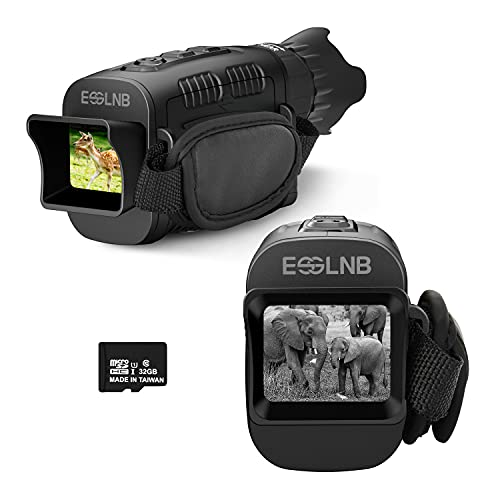 ESSLNB Night Vision Monocular Infrared10X with 32G Card Digital Night Vision Playback Functions for Outdoors Hunting
