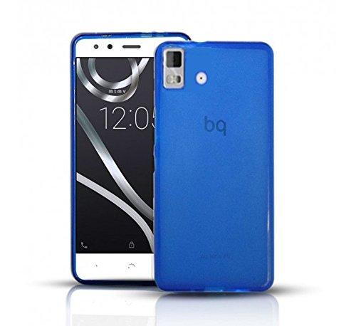 Todobarato24h Funda Gel Lisa Azul Compatible con BQ AQUARIS E4.5