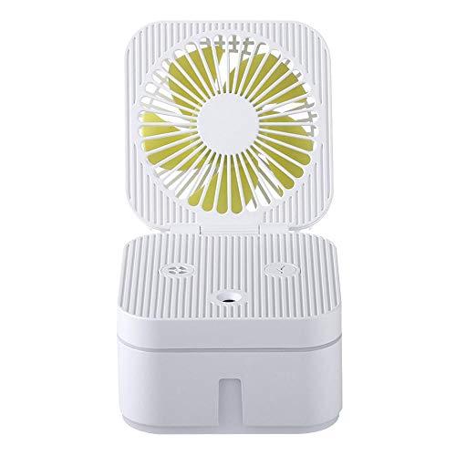 Mini USB oplaadbare bevochtigingsspray Ventilator Bevochtigingsventilator Combo Kleine bureaus en huishoudelijke ventilatoren